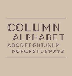 Column regular font alphabet vector