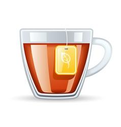 Cup tea vector