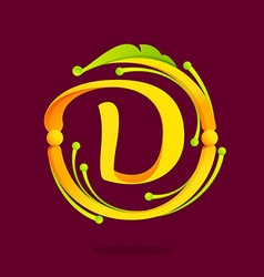 D letter monogram design elements vector