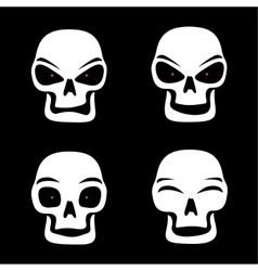 Different skull emotions vector