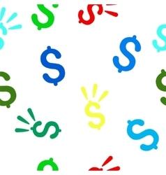Dollar Shine Flat Seamless Pattern vector image