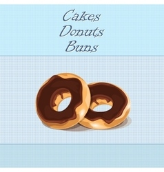 Donuts on a blue background vector image
