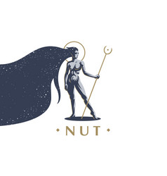 Egyptian goddess nut vector