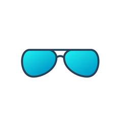 eyeglasses blue icon on white background vector image