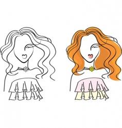 Face woman3 vector