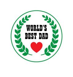 fathers day crest vector image