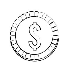 Figure coin money save vector