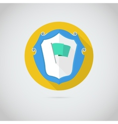 Flat icon with flag vector image