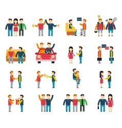 Friends and friendly relationship social team flat vector image