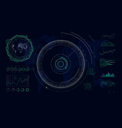 futuristic user interface hud design graphs and vector image
