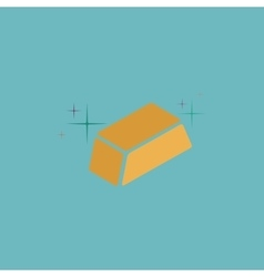 gold flat icon vector image