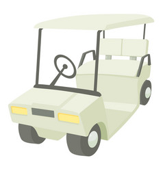 Golf car icon cartoon style vector
