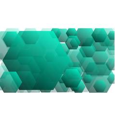 Green hexagonal artistic backdrop conception vector