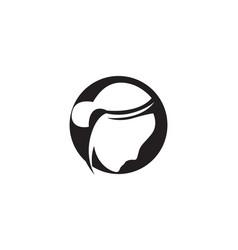 hair woman head logo and symbols icons vector image