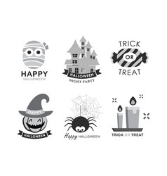Halloween element symbol set flat deign symbols vector