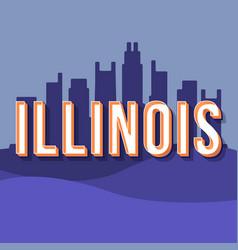 illinois vintage 3d lettering retro bold font vector image