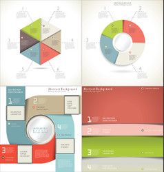 infographic template collection vector image