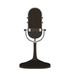 Isolated retro microphone vector