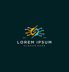Letter s tech logo icon design template vector