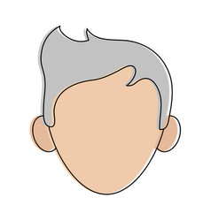Man avatar head icon image vector