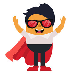 man with cape and glasses on white background vector image