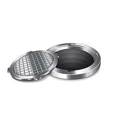manhole isolated vector image