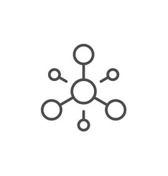 Molecule structure line outline icon vector