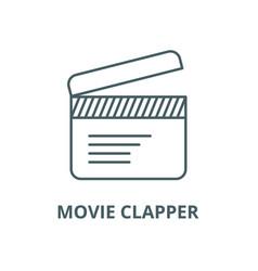 movie clapper line icon linear concept vector image