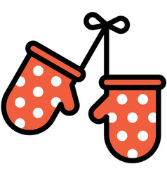 Oven glove icon bakery and baking related vector