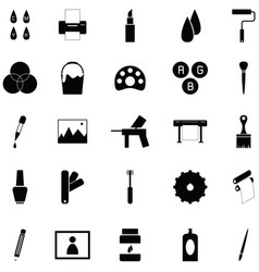 paint icon set vector image