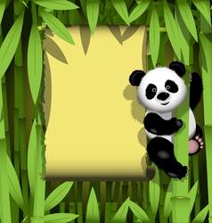 Panda in the jungle vector