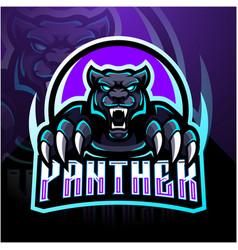 panther esport mascot logo design vector image