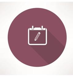 personal calendar icon vector image