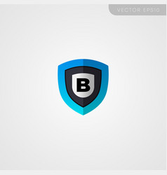 Pro security letter b logo design vector