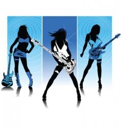 rock queen of night vector image