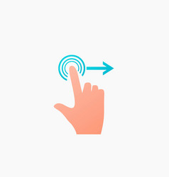 Screen swipe vector