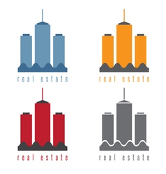 Set of commercial real estate vector