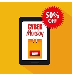 Smartphone cyber monday offer buy vector