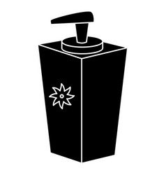 soap bottle dispenser icon vector image