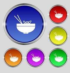 Spaghetti icon sign Round symbol on bright vector