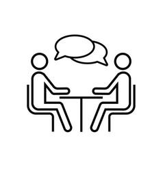 Speaking people icon talk logo design vector