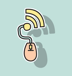 Sticker unusual look wifi signal vector
