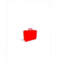 suitcase icon vector image