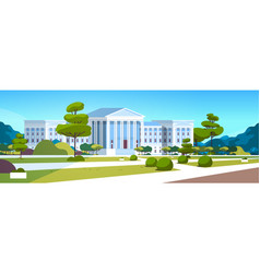 supreme court building with columns government vector image