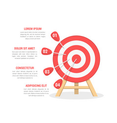 target with four arrows vector image