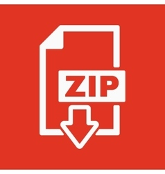 The ZIP file icon Archive and compressed symbol vector image