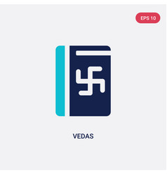 Two color vedas icon from india concept isolated vector