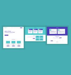 Website template page business landing vector