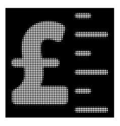 White halftone pound value icon vector