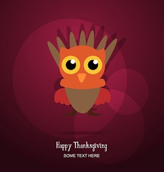 With thanksgiving and turkey vector